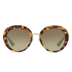 Prada Catwalk Cinema Sunglasses (Blond Tort)